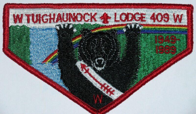 Lodge 409 Tuighaunock S15 40th ANN Pocket Flap  OA  BSA