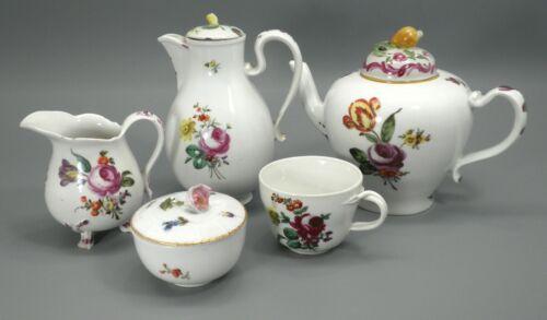 Antique Royal Vienna Austria Porcelain Tea Coffee Set Flowers Hand Painted