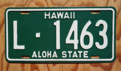 1961 to 1967 Hawaii Aloha State License Plate # L - 1463   High Quality