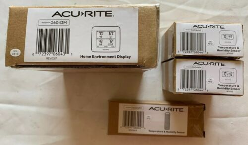 AcuRite 01096M Temperature Humidity Station with 3 Indoor/Outdoor Sensors
