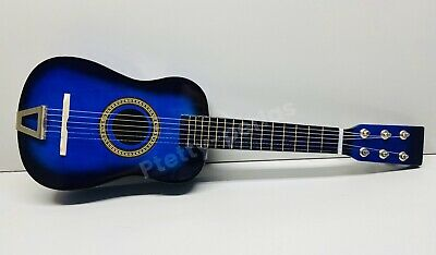 "23"" Mini  Acoustic Guitar Wood Beginner Blue Small Guitarra for Kids USA Sell"