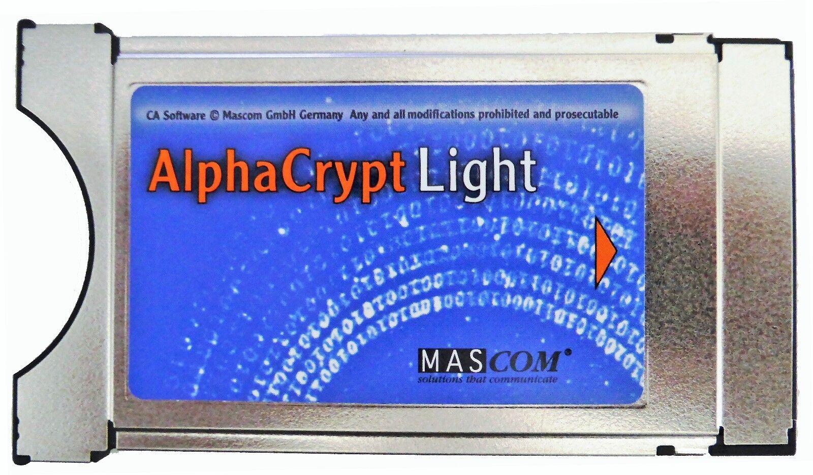 Original Mascom Alphacrypt Light CI CI+ Modul Version R2.2 einsatzbereit One4All
