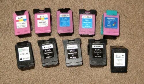 HP Empty Printer Cartridge Lot 64 XL Cartridges
