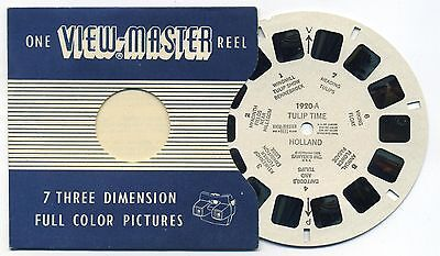 Tulip Time I Holland 1956 Belgium-made ViewMaster Single Reel 1920-A