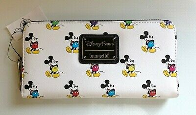 NEW DISNEY PARKS LOUNGEFLY MICKEY MOUSE ZIP-AROUND WALLET