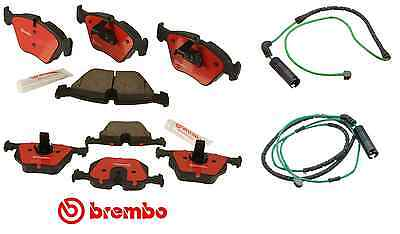 Genuine Brembo Premium Ceramic Brake Pads + Sensors (Front & Rear) BMW E46 M3