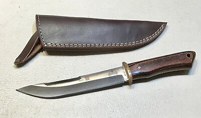 VINTAGE 1980' AL MAR BORDER PATROL SEKI JAPAN FIGHTING DAGGER KNIFE W/SHEATH