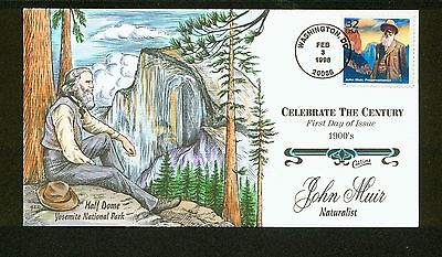 Celebrate the Century, John Muir Preservationist FDC, HP Collins, 1900s, 3182