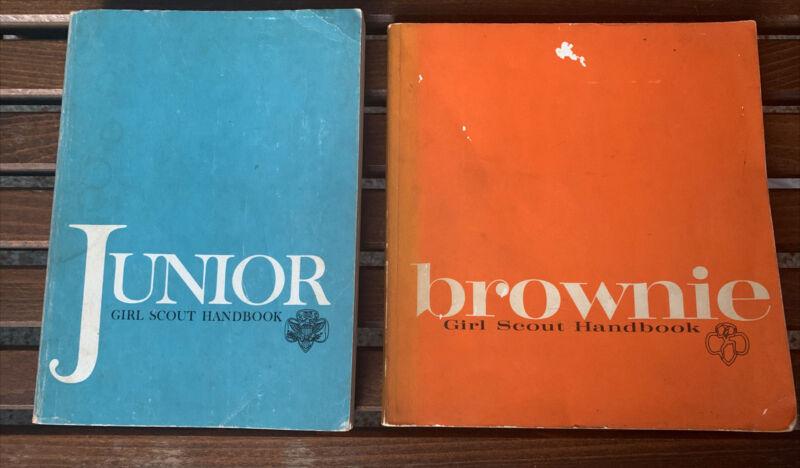 Vintage Junior & Brownie Girl Scout Handbooks Lot Set of 2