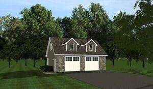 2-car garage plans 30x24 w/ Loft plan 720 sf #1032