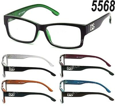 New WB Clear Lens Square Frame Eye Glasses Designer Womens Mens Fashion Retro (Multi Colored Lens Sunglasses)