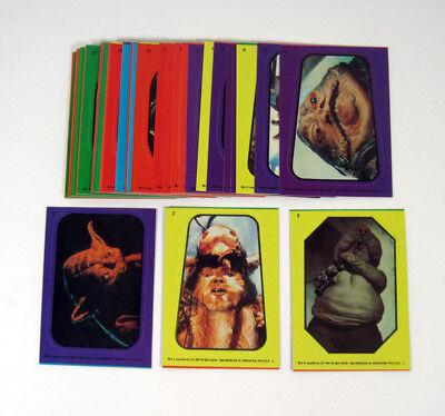 1983 Topps Star Wars Return of the Jedi Sticker Set (33) Nm/Mt
