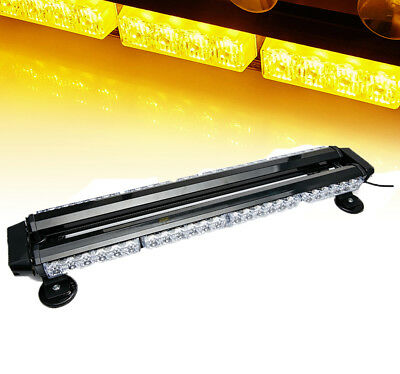 Amber led light barebay 1 54 leds light bar roof top emergency beacon warning flash strobe yellow amber mozeypictures Image collections