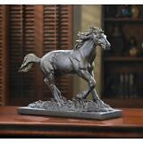 HORSE WILD STALLION STATUE FIGURINE RUSTIC BRONZE COLOR  SCULPTURE DECOR~14583