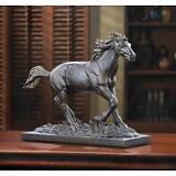 HORSE WILD STALLION STATUE FIGURINE RUSTIC BRONZE COLOR  SCULPTURE DECOR~14583