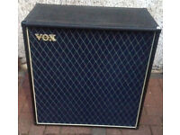VOX V412 BL ELECTRIC GUITAR CABINET MONO OR STEREO DISCONTINUED GOOD CONDITION