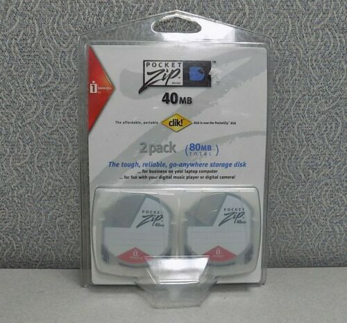 Iomega PocketZip 40MB PC Media (2 Pack)