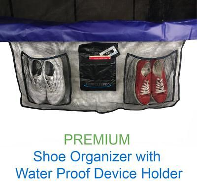Premium Trampoline Shoe Bag Organizer With Water Resistance Pouch