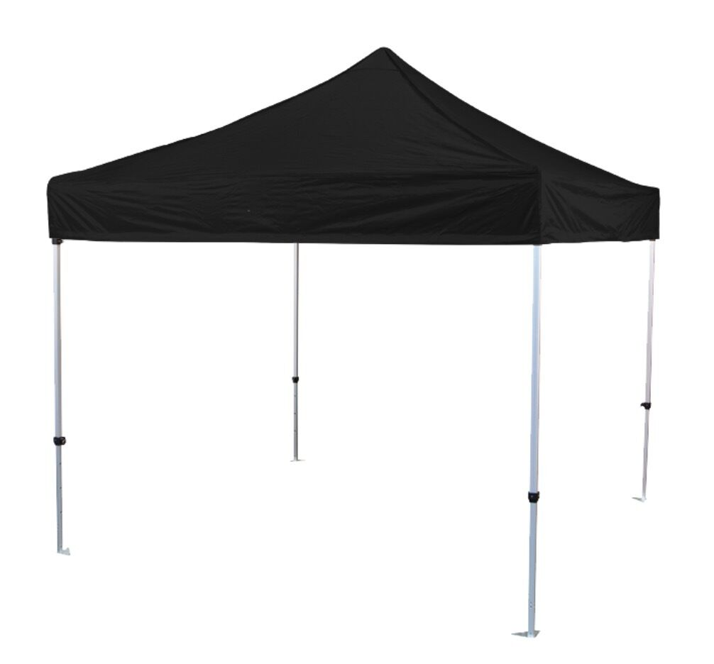 3m X Aluminium Gazebo In Black With Walls And Leg Weights Included