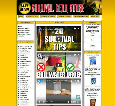 Prepper Shop Survival Gear Store Affiliate Website Amazongoogleyoutube