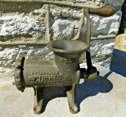 Antique Cast Iron Table Mount Enterprise Tinned #12 Meat Chopper Ginder
