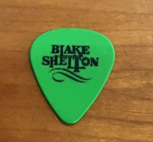 Blake Shelton Guitar Pick Green