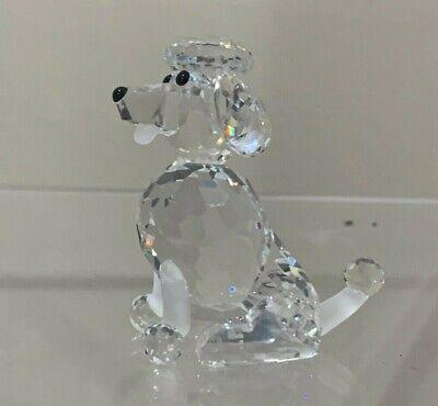 "Swarovski Crystal Figurine 7619 NR 000 005 STANDING SITTING DOG APPROX 2.5"""
