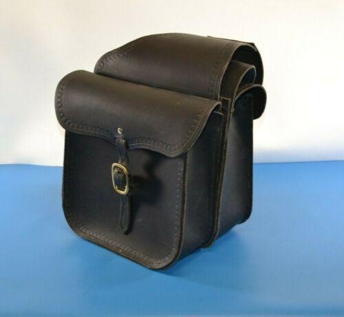 Quality Black Leather Saddle Bags Western Bill Myers Arizona Leather Maker