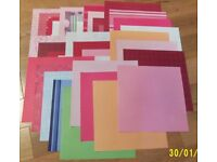 "Job lot of New Cards, Envelopes and 12"" x 12"" Scrapbook Sheets"
