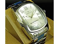 New Invicta Lupah Special Edition Silver Tone Ss High Polished