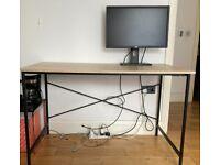 LIKE-NEW - Dark Oak Computer Desk