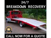 24/7 CAR BIKE BREAKDOWN RECOVERY TRANSPORT TOW TRUCK SERVICES ACCIDENT FLAT TYRE AUCTION M4 A34 A33