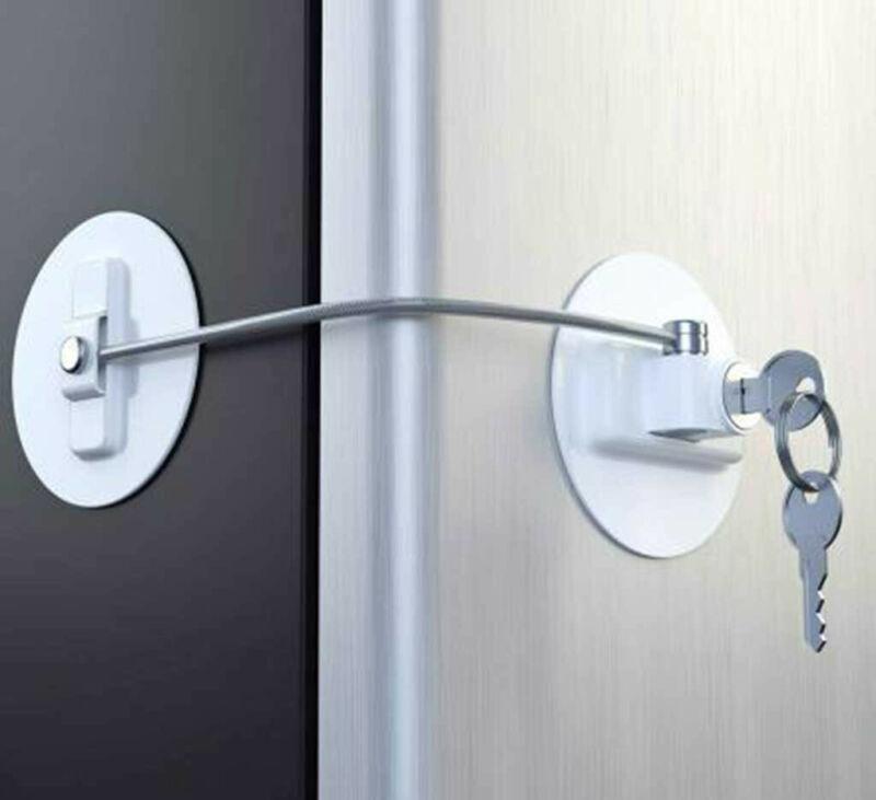 refrigerator door lock with 2 keys file