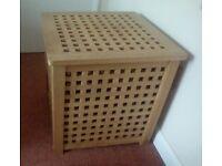IKEA wooden lattice storage box