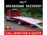24/7 CAR BIKE BREAKDOWN RECOVERY TRANSPORT TOW TRUCK ACCIDENT JUMP STARTS FLAT TYRE AUCTION M40 A40