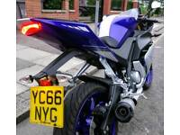 YAMAHA YZF R125, Only 2k miles and 1 owner from NEW, 2016 year/model, very clean and tidy!