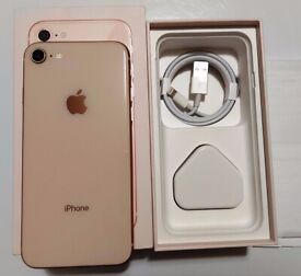 iPhone 8 Rose Gold Immaculate Condition Unlocked to All Networks