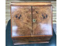 Antique Victorian Walnut Stationery Document Cabinet Box