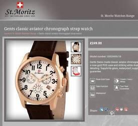 Rotary st. Moritz chronograph watch