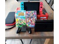 Nintendo switch consol, animal crossing Mario kart