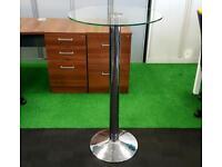 Glass poseur table cheap furniture Harlow Essex London chelmsford Braintree dunmow