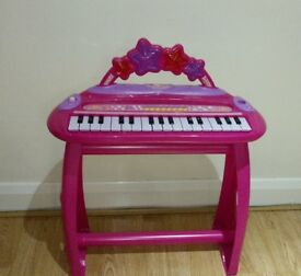 Pink Electronic Organ Keyboard
