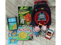 Boy's Toys inc set of 8 Spot books in backpack RRP £20,Lego ambulance Thomas trolley bag and more