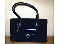 Beautiful new Suzy Smith blue cord zip top handbag unwanted Christmas gift.