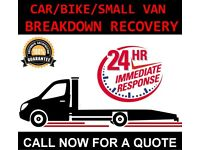 CAR BIKE BREAKDOWN RECOVERY TRANSPORT TOW TRUCK SERVICES ACCIDENT FLAT TYRE AUCTION M1 A406 A1 A41