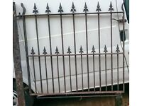 Wrought Iron Garden Gate.