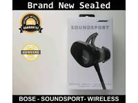 BOSE SOUNDSPORT WIRELESS HEADPHONES BLUETOOTH BRAND NEW