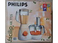 Unused Boxed Philips Facilio HR 7725 Food Processor
