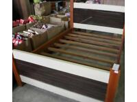 Double wooden bed crame