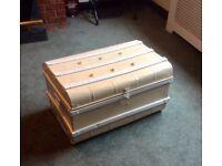 Vintage Metal Storage Trunk / Chest